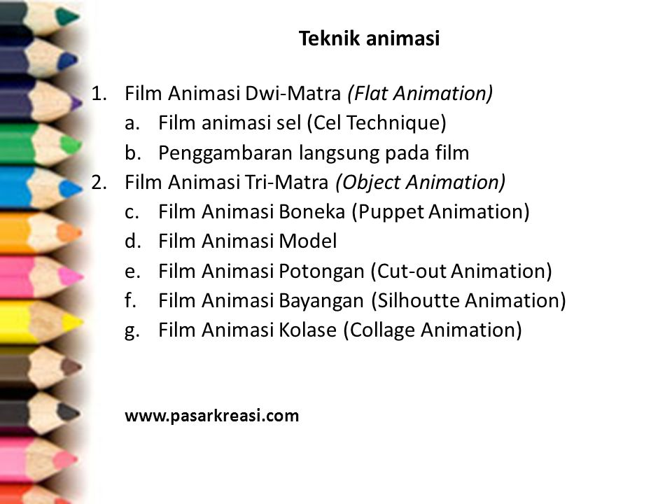 Teknik animasi Film Animasi Dwi-Matra (Flat Animation)