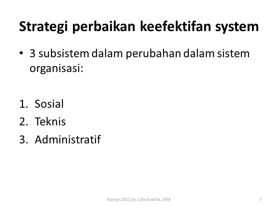 Strategi perbaikan keefektifan system
