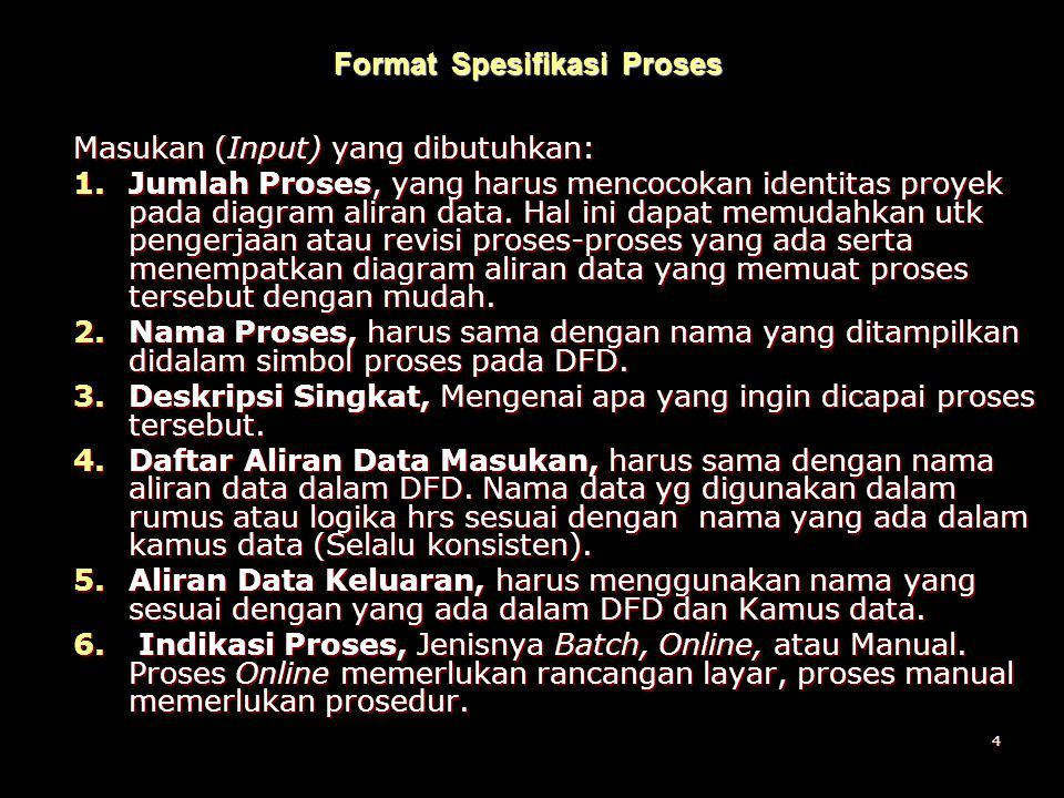 Format Spesifikasi Proses