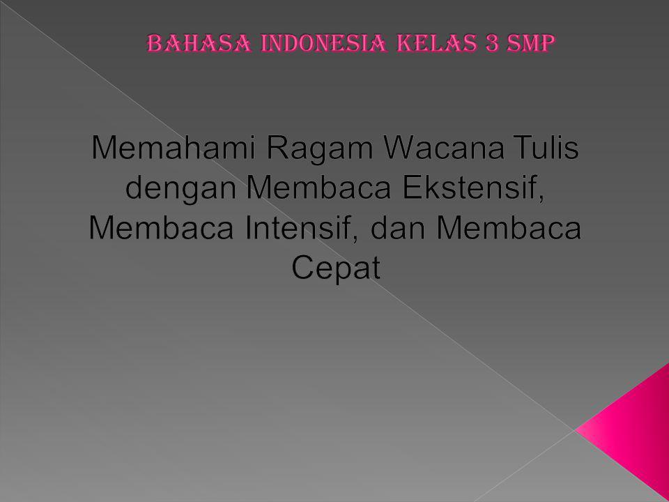 Bahasa indonesia kelas 3 smp