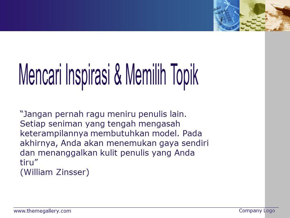Mencari Inspirasi & Memilih Topik