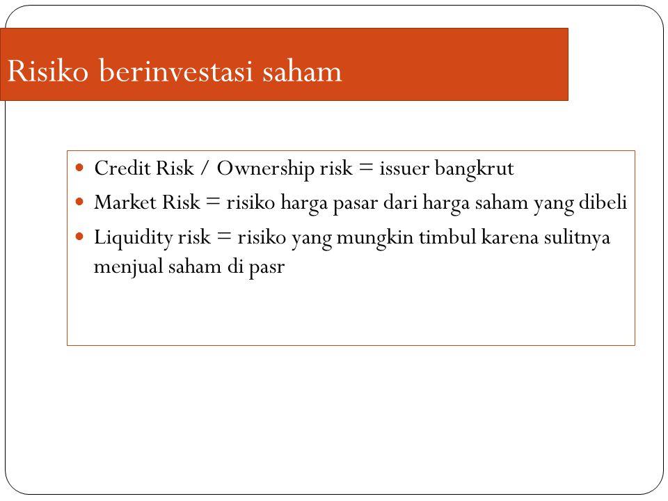 Risiko berinvestasi saham