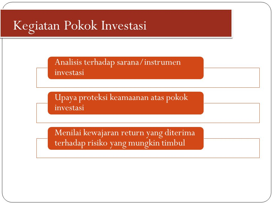 Kegiatan Pokok Investasi