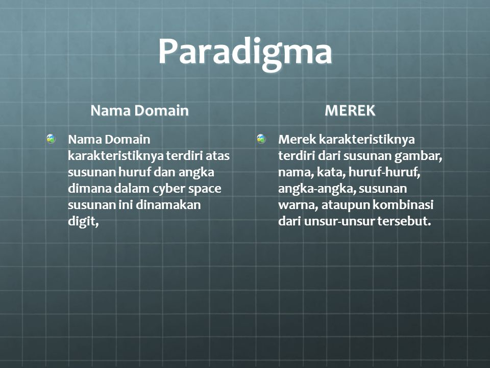 Paradigma Nama Domain MEREK