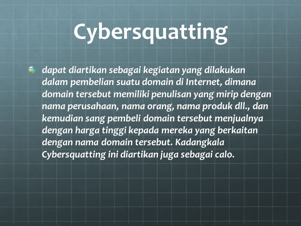 Cybersquatting
