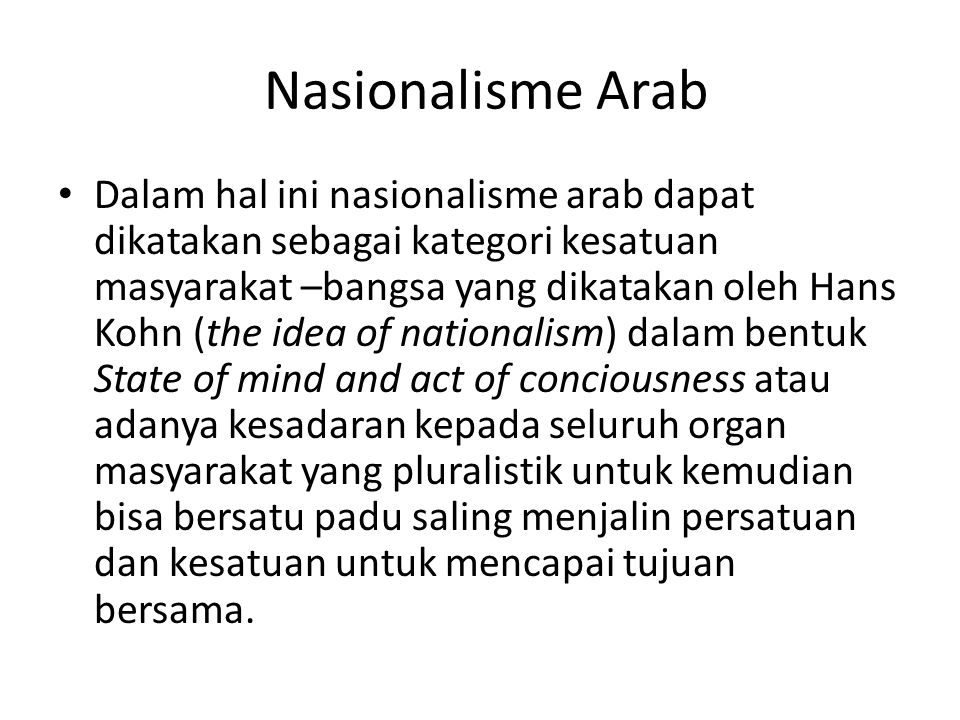Nasionalisme Arab