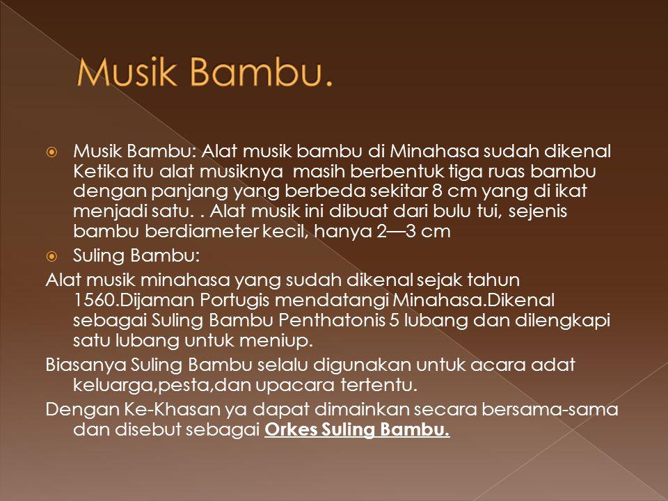 Musik Bambu.