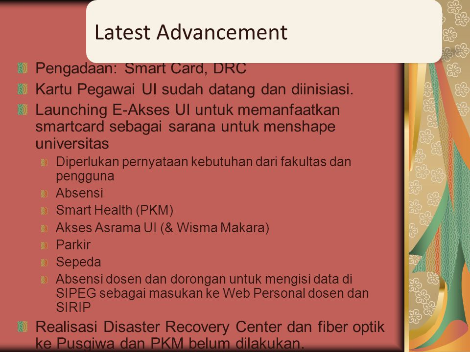 Latest Advancement Pengadaan: Smart Card, DRC