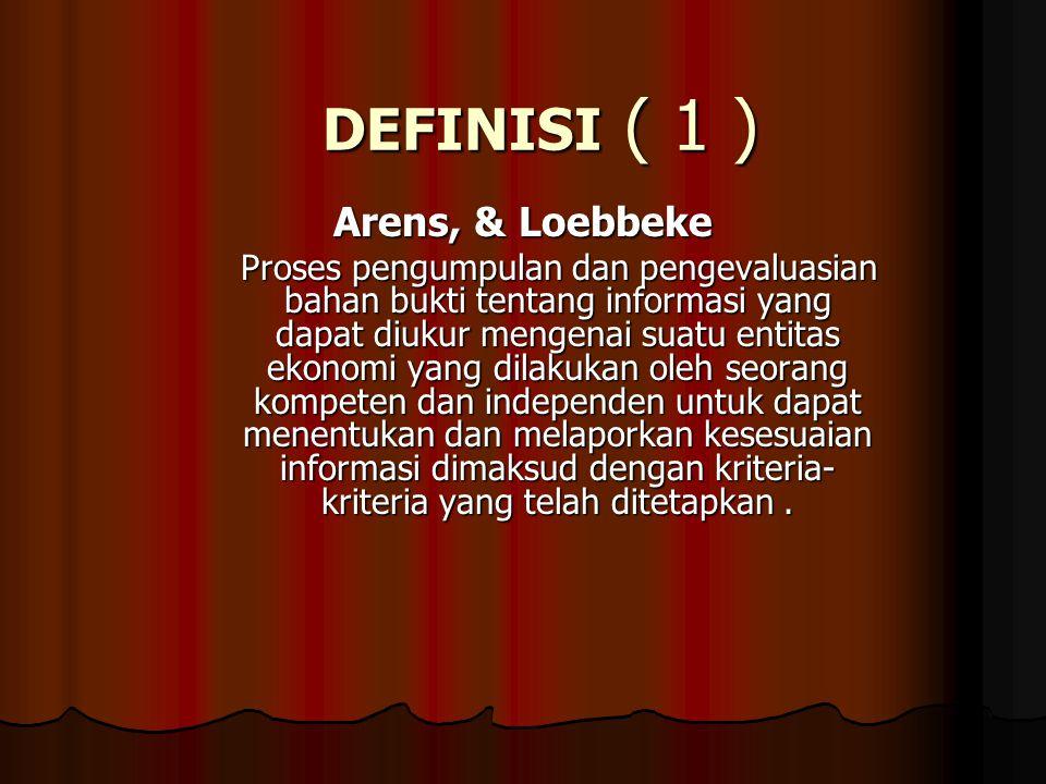 DEFINISI ( 1 ) Arens, & Loebbeke