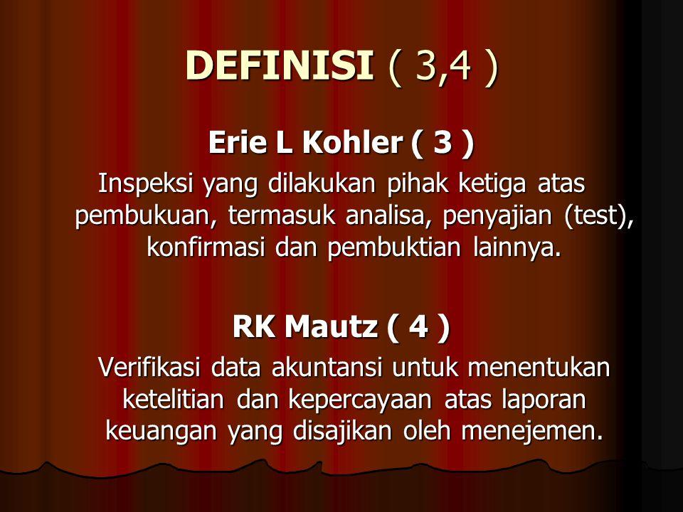DEFINISI ( 3,4 ) Erie L Kohler ( 3 ) RK Mautz ( 4 )