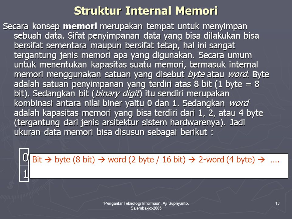 Struktur Internal Memori