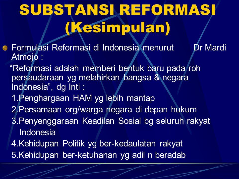 SUBSTANSI REFORMASI (Kesimpulan)