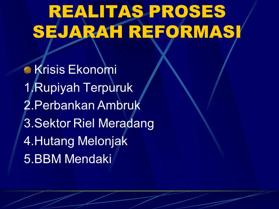 REALITAS PROSES SEJARAH REFORMASI