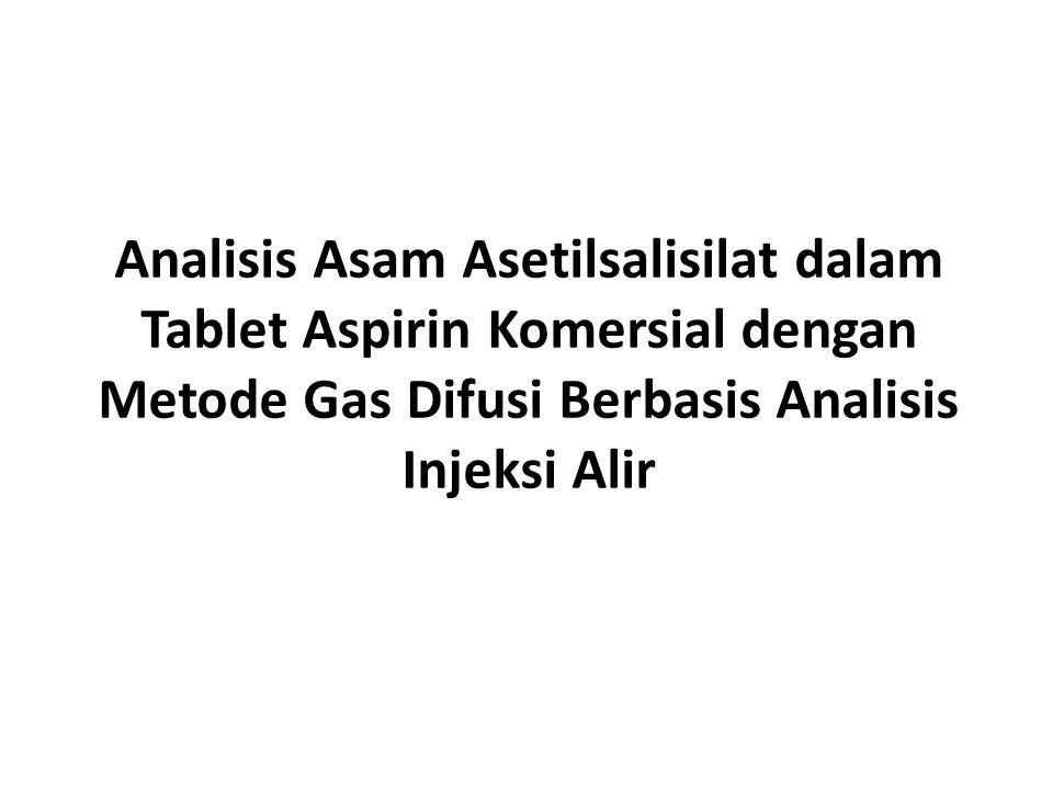 Analisis Asam Asetilsalisilat dalam Tablet Aspirin Komersial dengan Metode Gas Difusi Berbasis Analisis Injeksi Alir