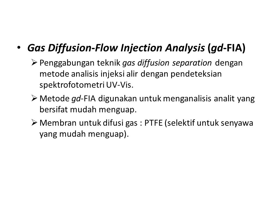 Gas Diffusion-Flow Injection Analysis (gd-FIA)