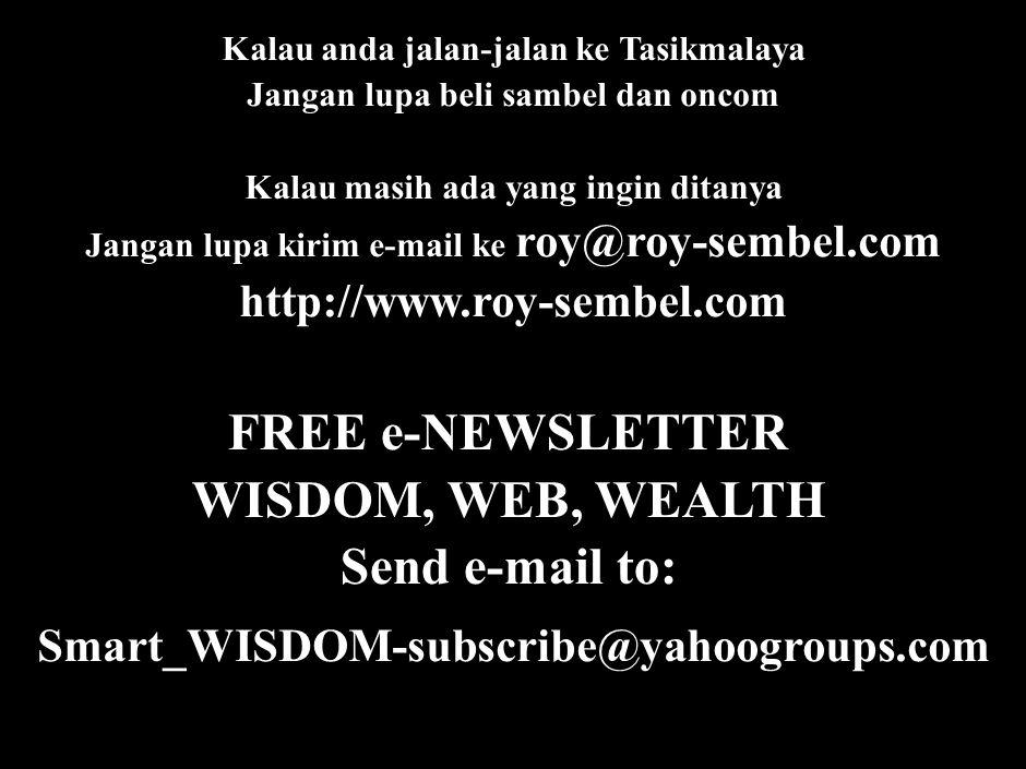 REFERENSI Sembel, Roy. 2001 (cetakan ketiga). Rahasia Pohon Duit dan Mesin Uang di Masa Sulit dan Senang. Elex Media Komputindo, Jakarta.