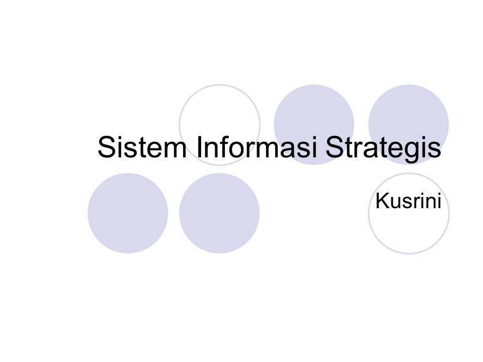 Sistem Informasi Strategis
