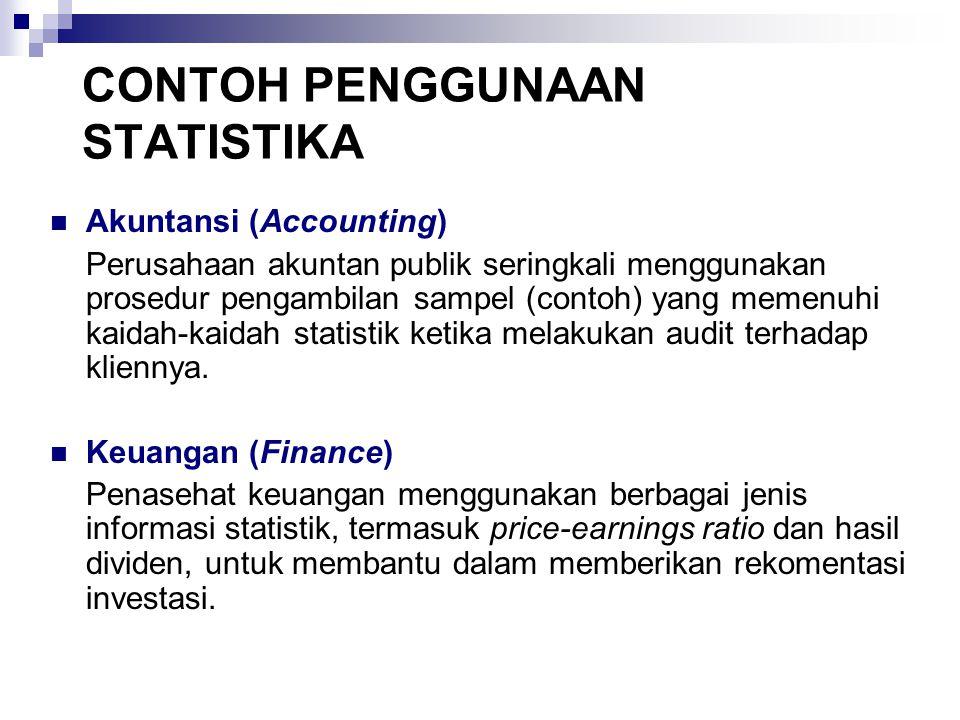 CONTOH PENGGUNAAN STATISTIKA