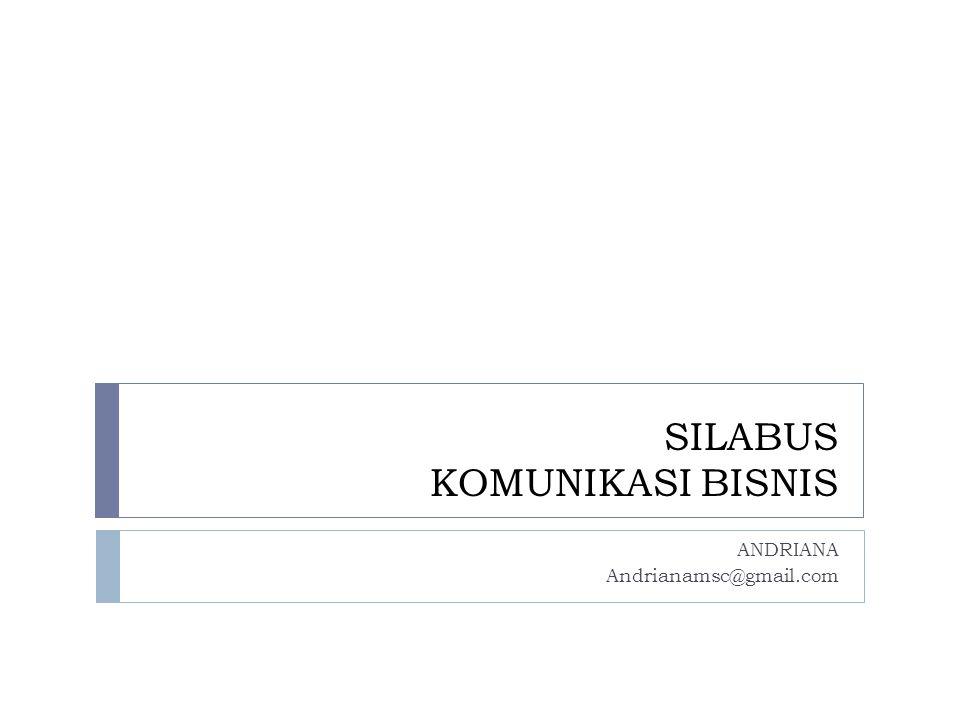 SILABUS KOMUNIKASI BISNIS