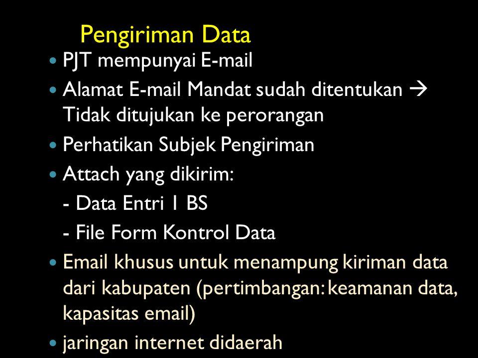 Pengiriman Data PJT mempunyai E-mail