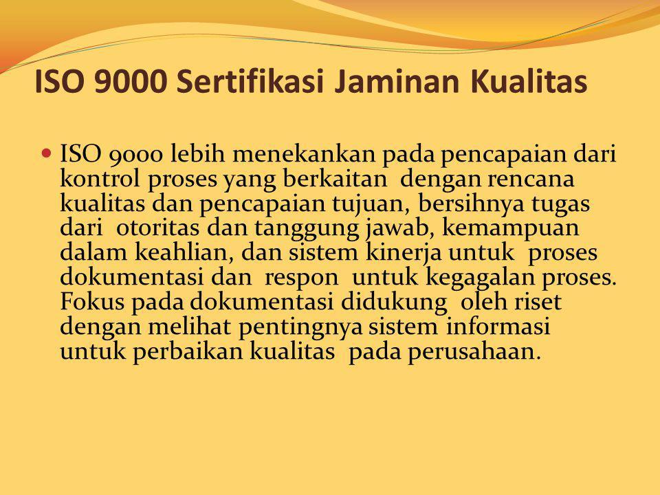 ISO 9000 Sertifikasi Jaminan Kualitas