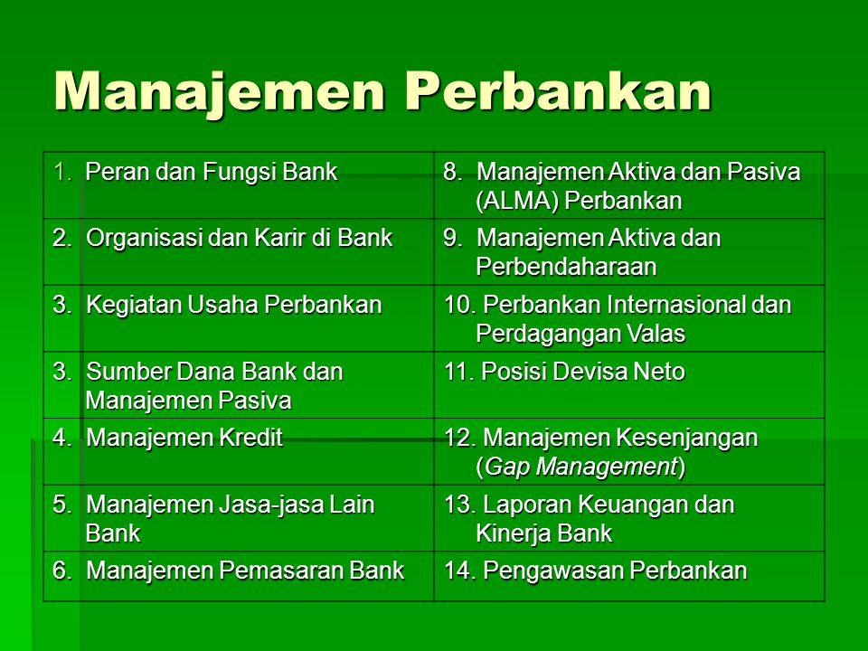 Manajemen Perbankan Peran dan Fungsi Bank