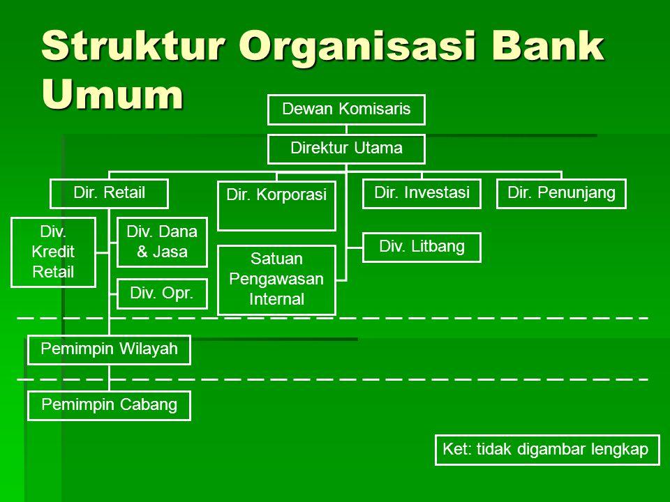 Struktur Organisasi Bank Umum