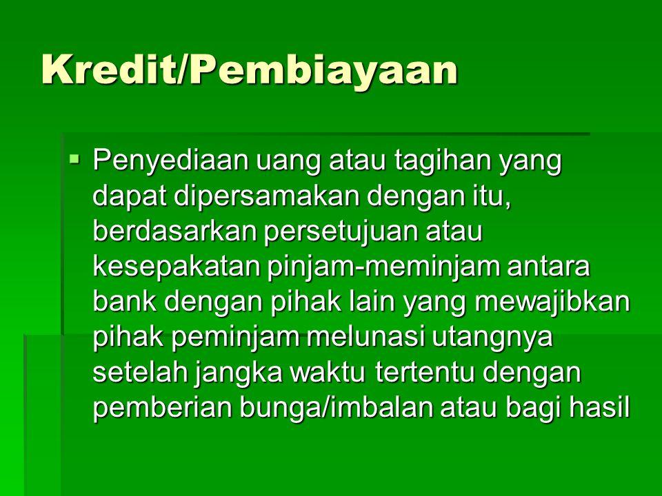 Kredit/Pembiayaan