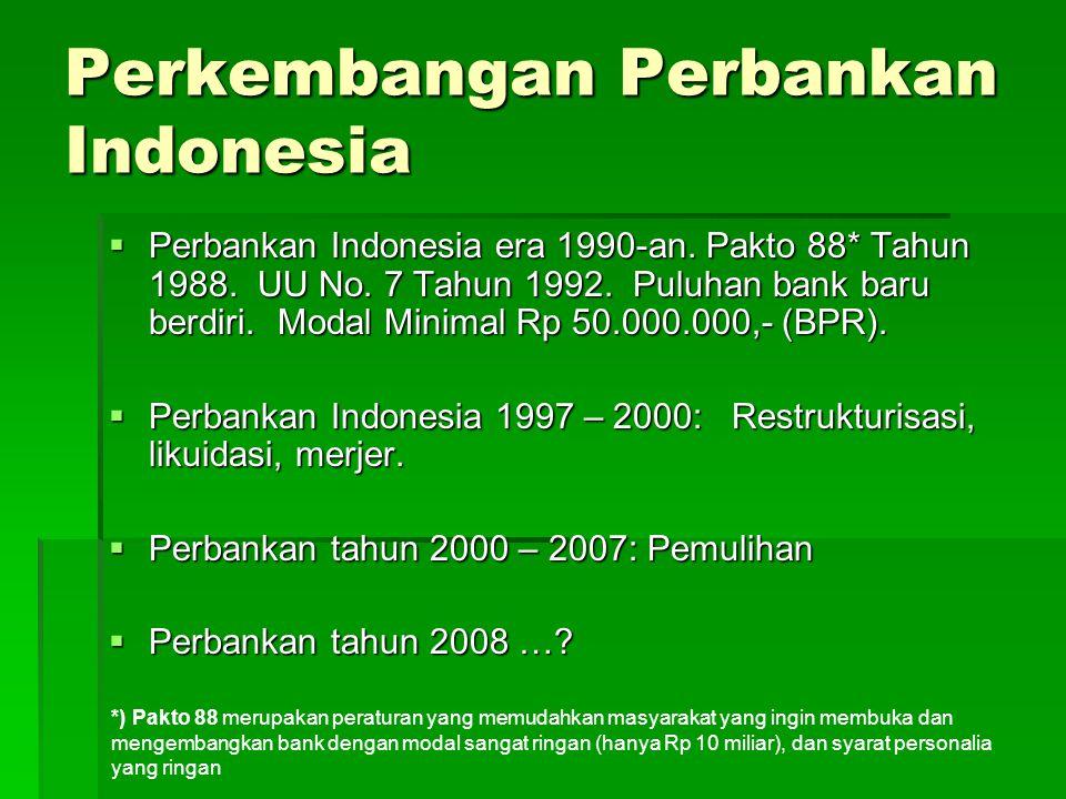 Perkembangan Perbankan Indonesia