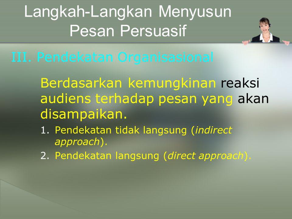 Langkah-Langkan Menyusun Pesan Persuasif