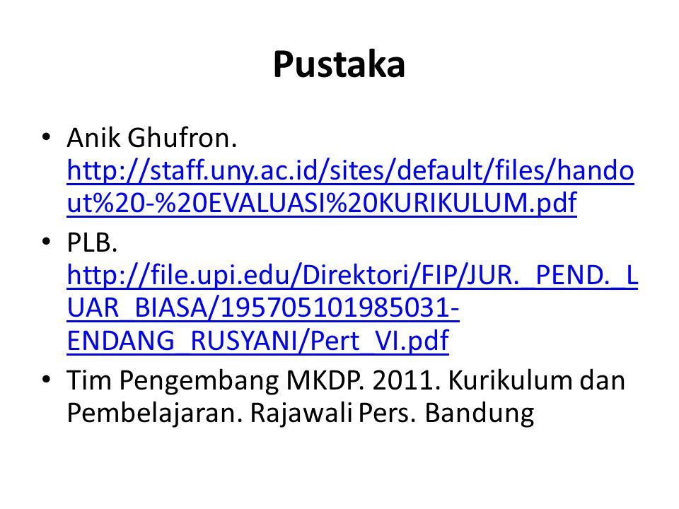 Pustaka Anik Ghufron. http://staff.uny.ac.id/sites/default/files/handout%20-%20EVALUASI%20KURIKULUM.pdf.