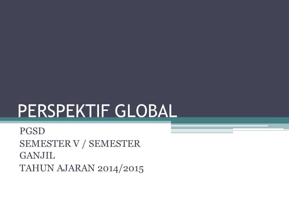 PGSD SEMESTER V / SEMESTER GANJIL TAHUN AJARAN 2014/2015