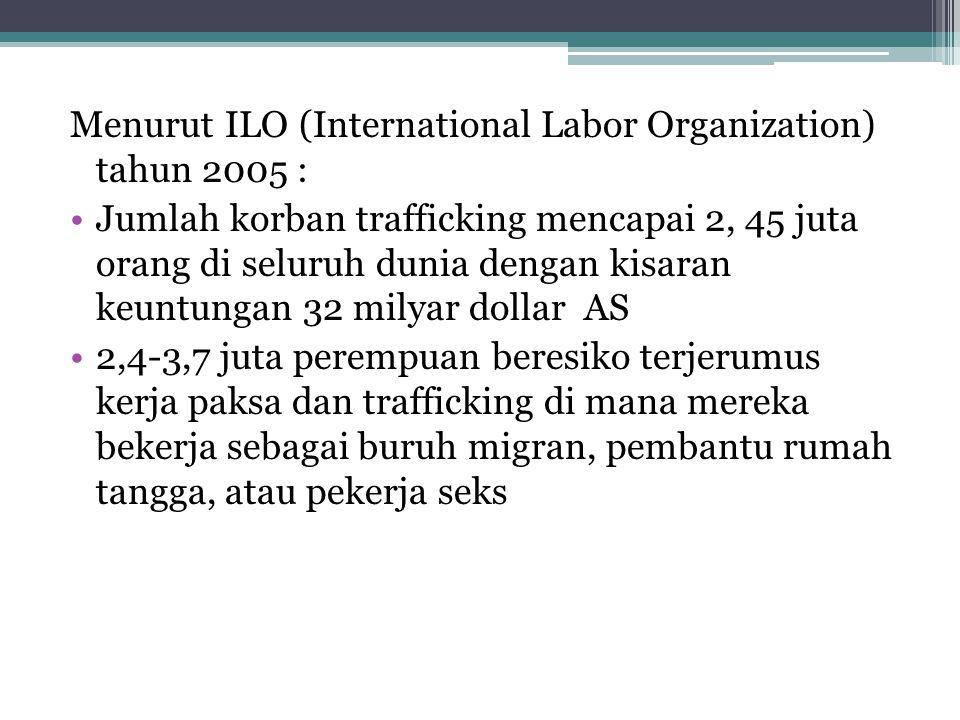 Menurut ILO (International Labor Organization) tahun 2005 :
