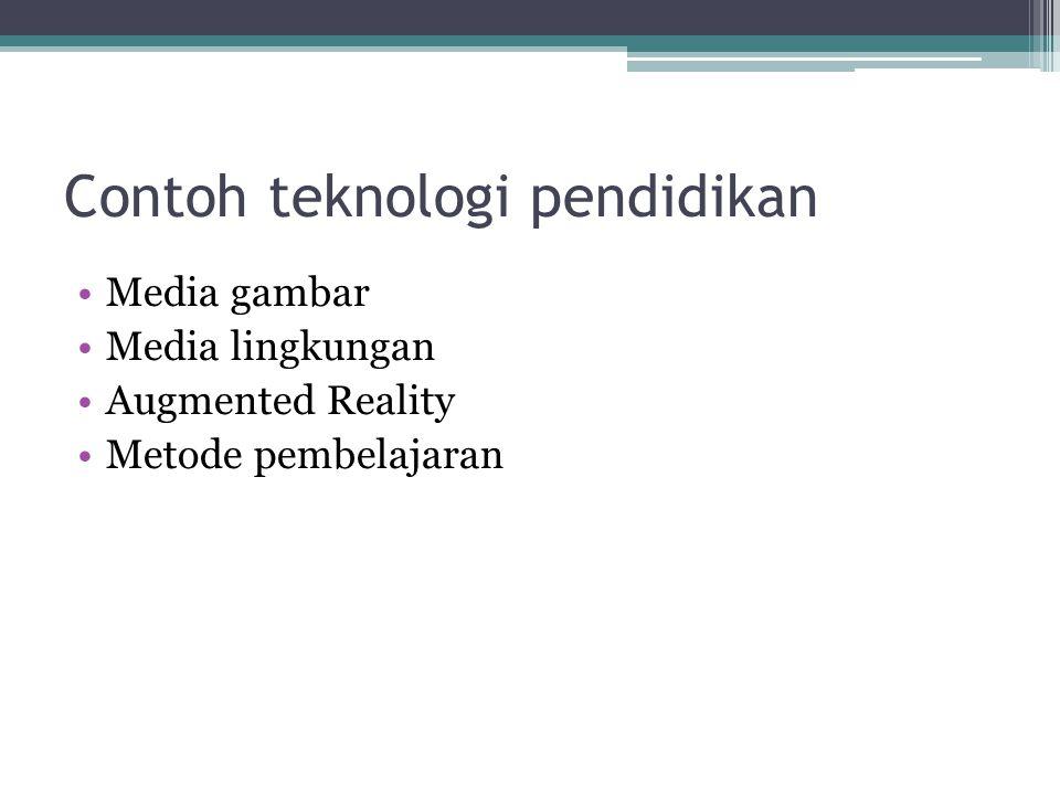 Contoh teknologi pendidikan