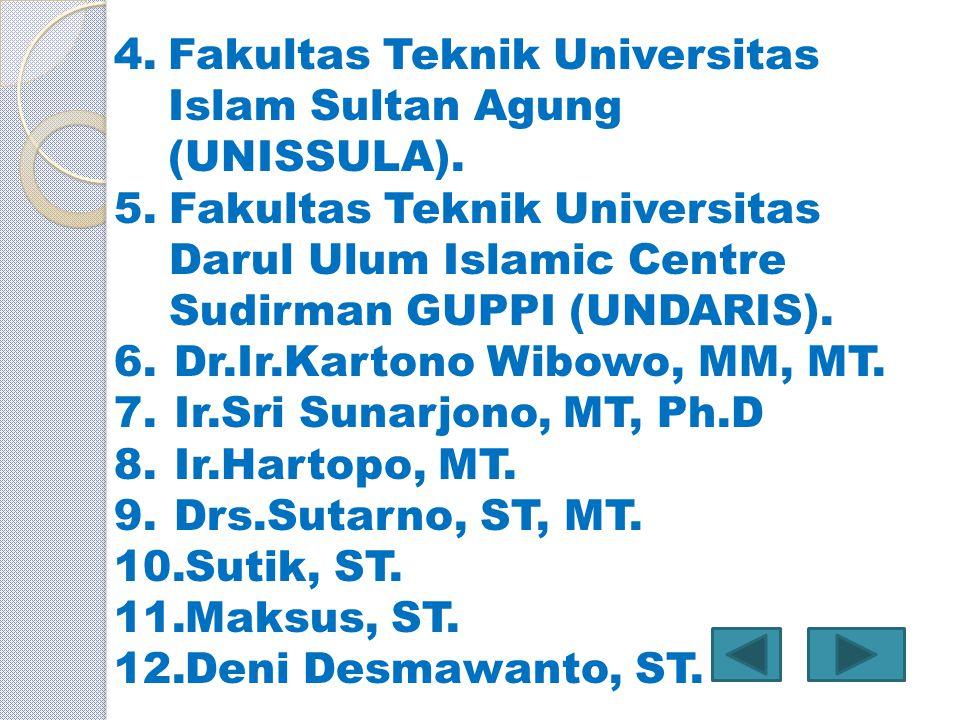 Fakultas Teknik Universitas Islam Sultan Agung (UNISSULA).