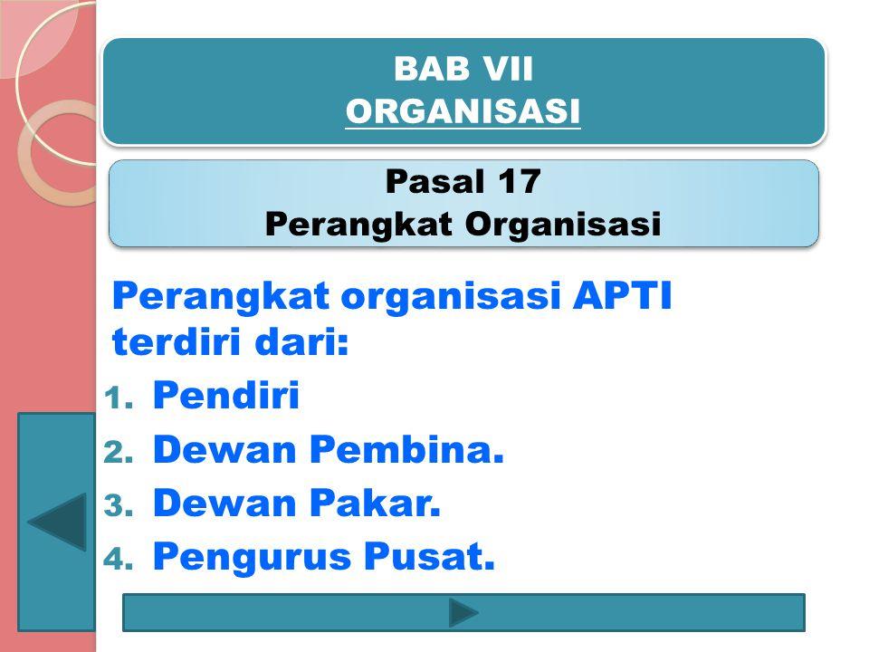 Pasal 17 Perangkat Organisasi