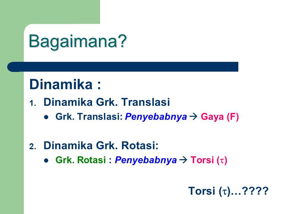 Bagaimana Dinamika : Dinamika Grk. Translasi Dinamika Grk. Rotasi: