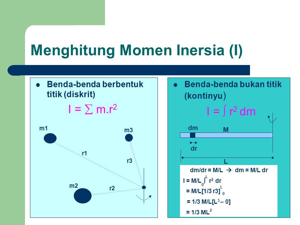 Menghitung Momen Inersia (I)