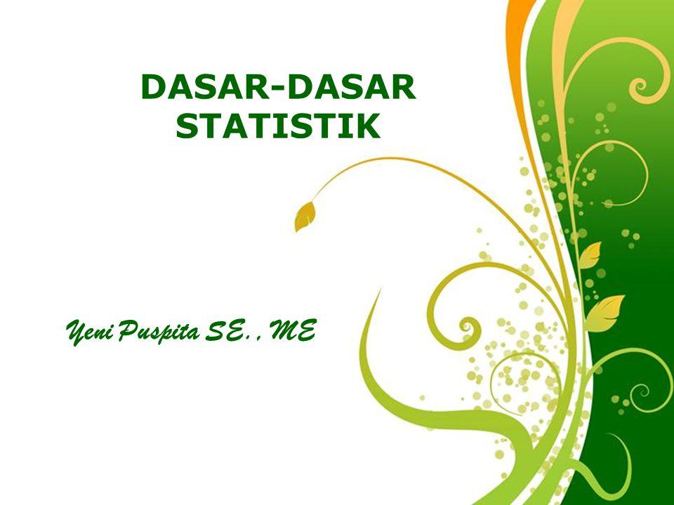 DASAR-DASAR STATISTIK