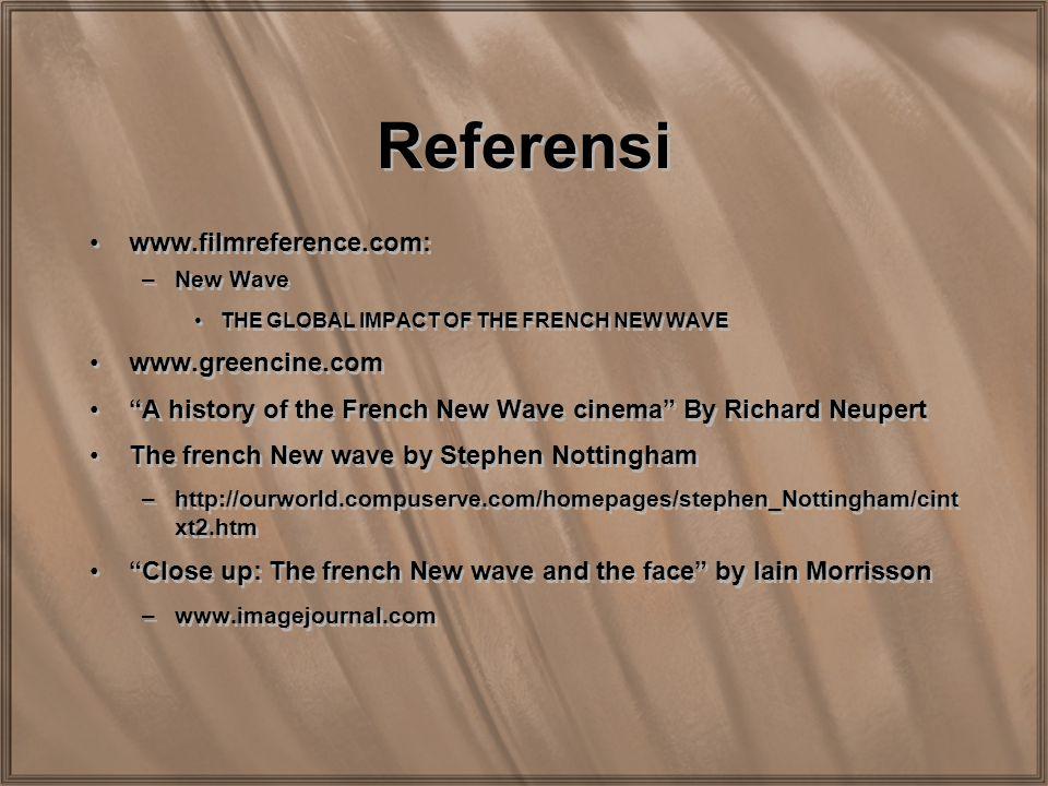 Referensi www.filmreference.com: www.greencine.com