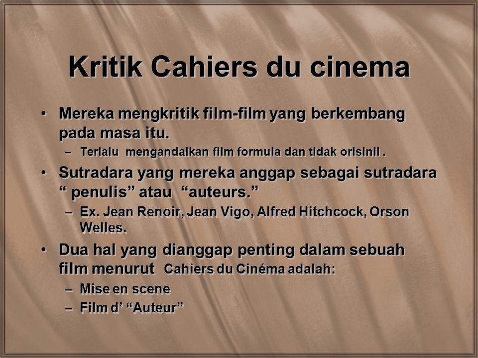 Kritik Cahiers du cinema