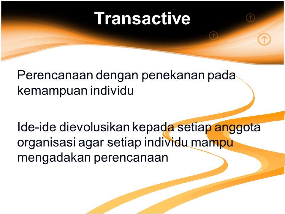 Transactive Perencanaan dengan penekanan pada kemampuan individu