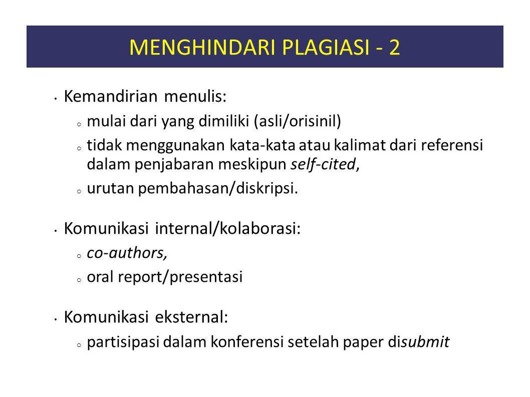 MENGHINDARI PLAGIASI - 2