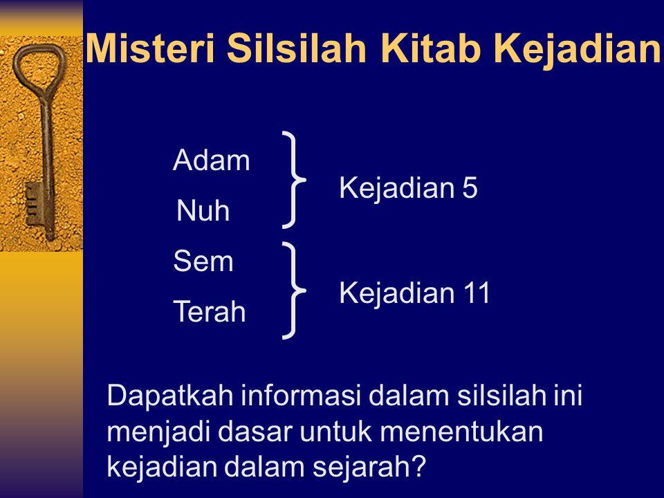 Misteri Silsilah Kitab Kejadian