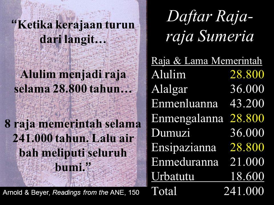 Daftar Raja-raja Sumeria