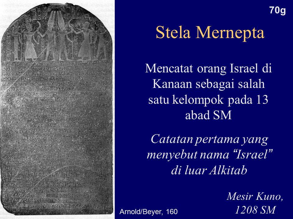 Catatan pertama yang menyebut nama Israel di luar Alkitab