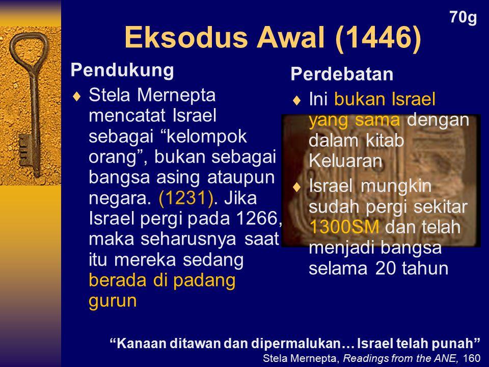Eksodus Awal (1446) Pendukung Perdebatan