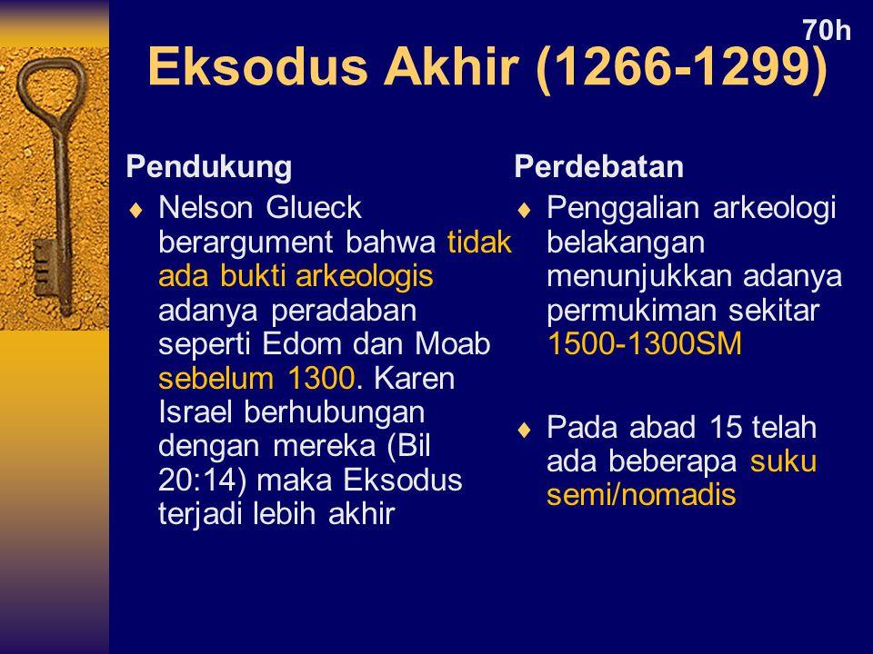 Eksodus Akhir (1266-1299) Pendukung