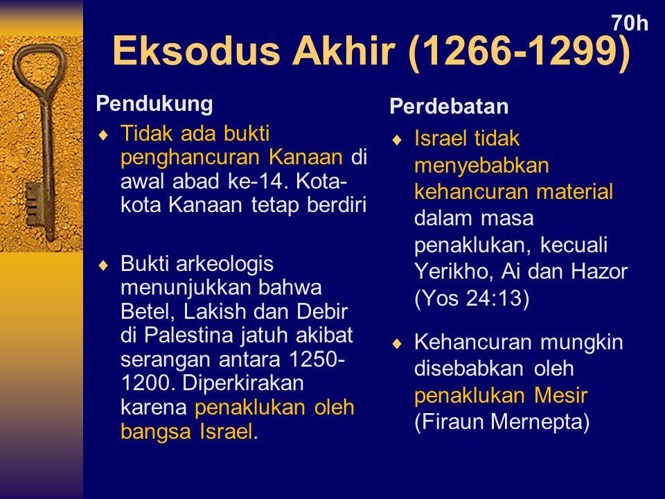 Eksodus Akhir (1266-1299) 70h Pendukung