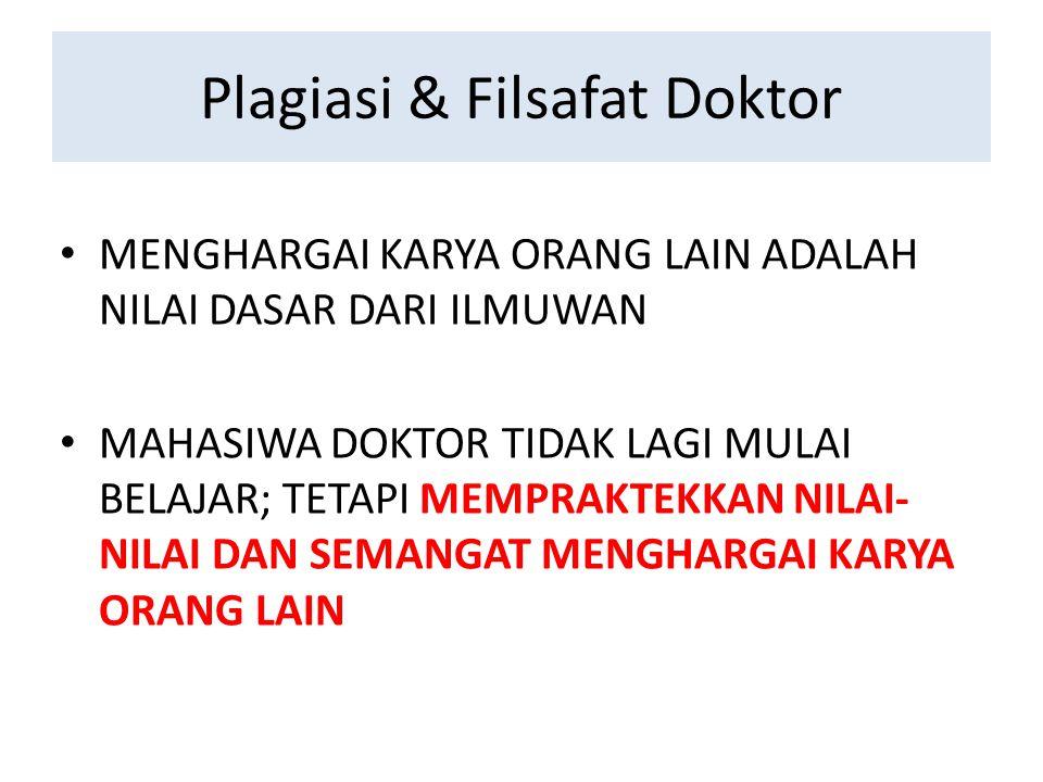 Plagiasi & Filsafat Doktor